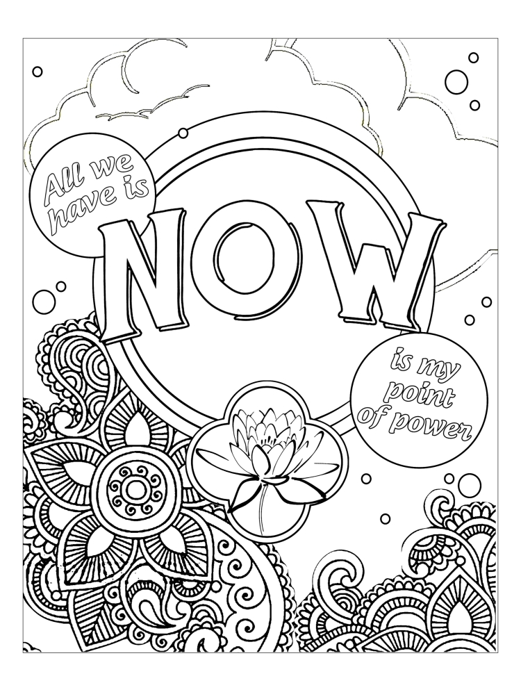 The Art Of Now Coloring Book Know How FREE Page