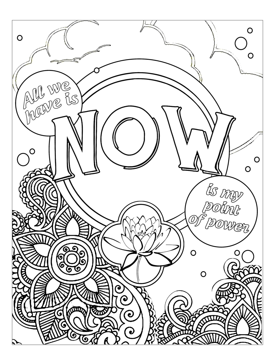 The Art Of Now Coloring Book Know How FREE Page THE ART OF NOW